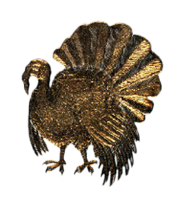 Golden turkey drawing