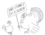 save a turkey eat a chicken clipart