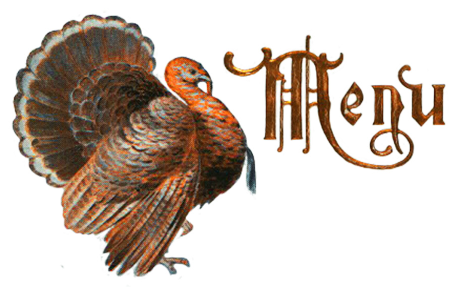 Menu card for Thanksgiving