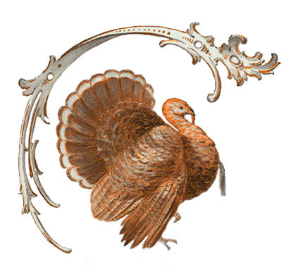 Ornament for thanksgiving invitation