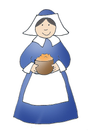 pilgrim woman porridge clipart