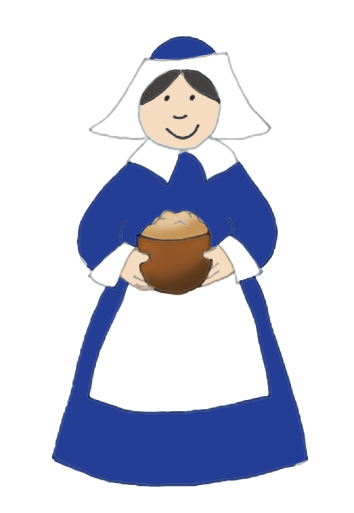 Woman with Thanksgiving porridge