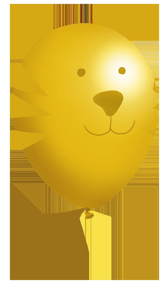 tiger balloon clipart