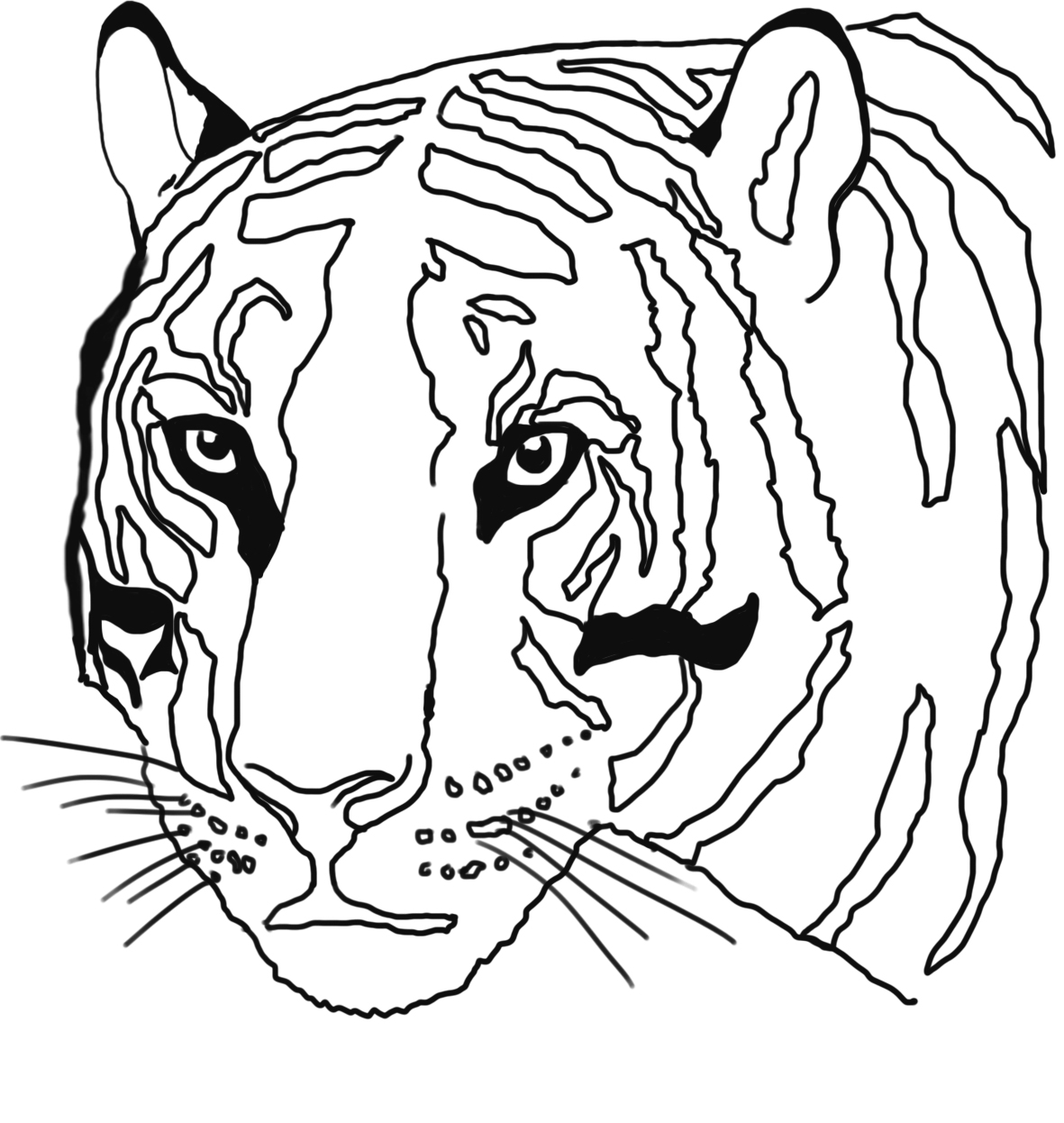 tiger-head coloring page
