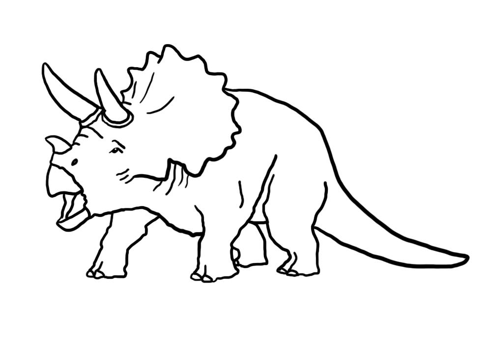 Triladopeill dinosaur coloring sheet