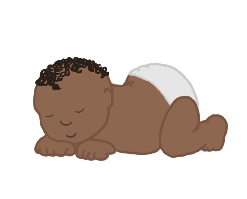 tiny sleeping baby clipart