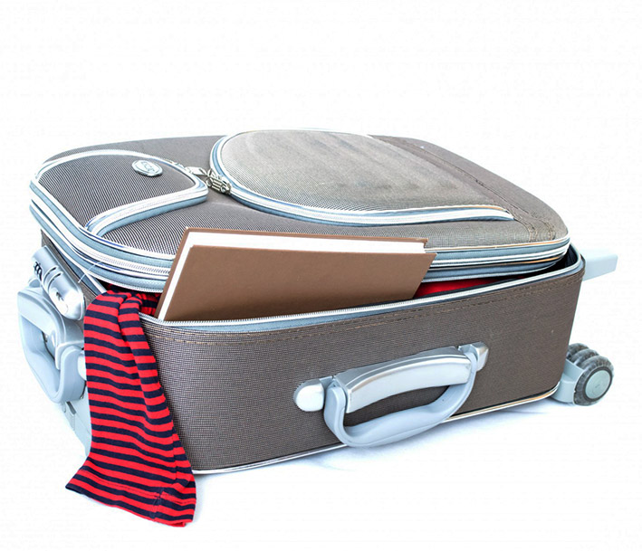 suitcase for summer holiday