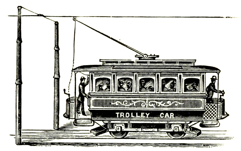 trolley car illustration