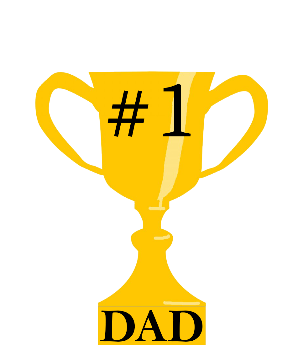 trophy #1 dad father's day