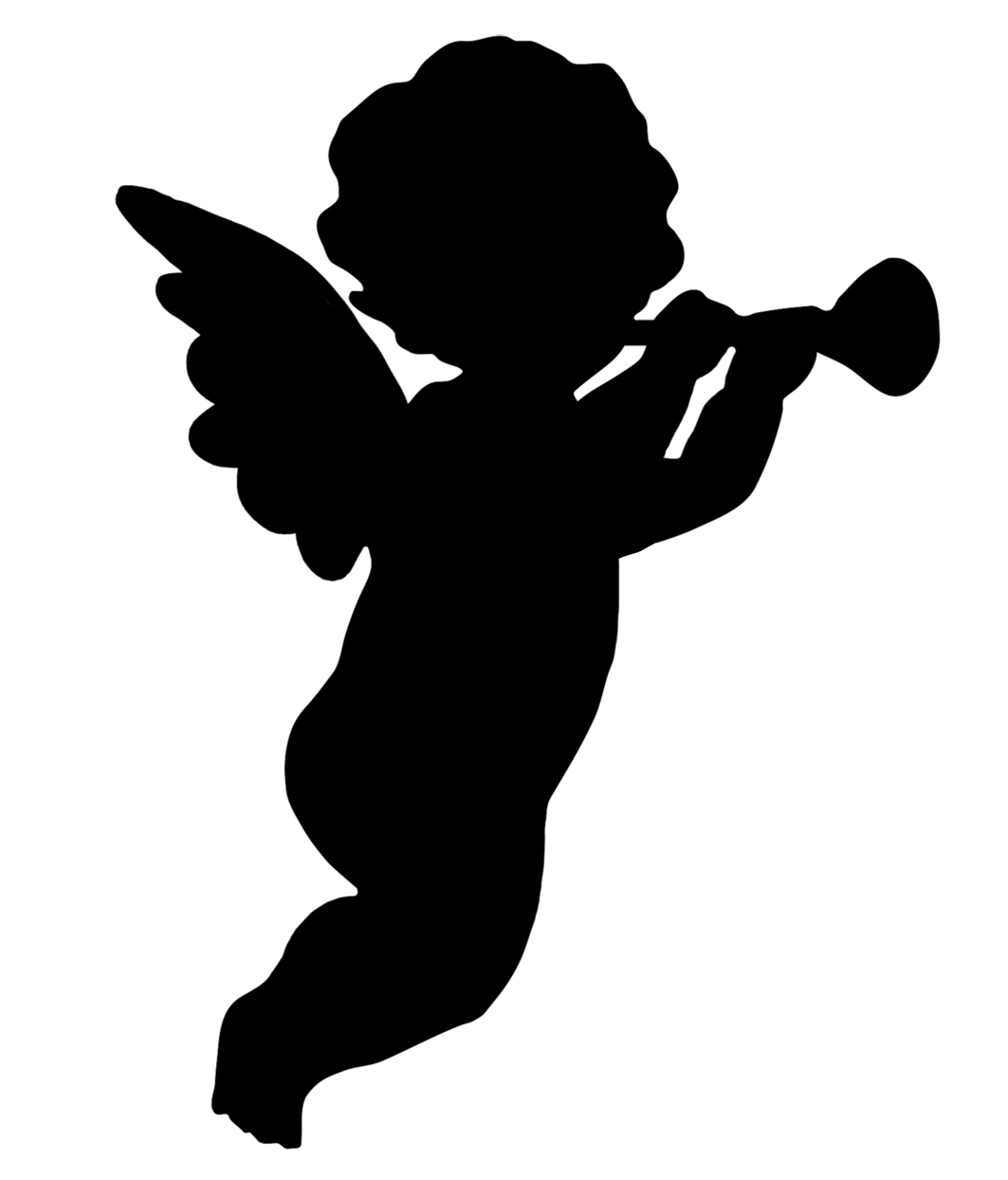 trumpet blowing cherub
