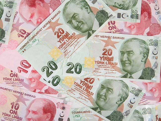 Turkish money clip art
