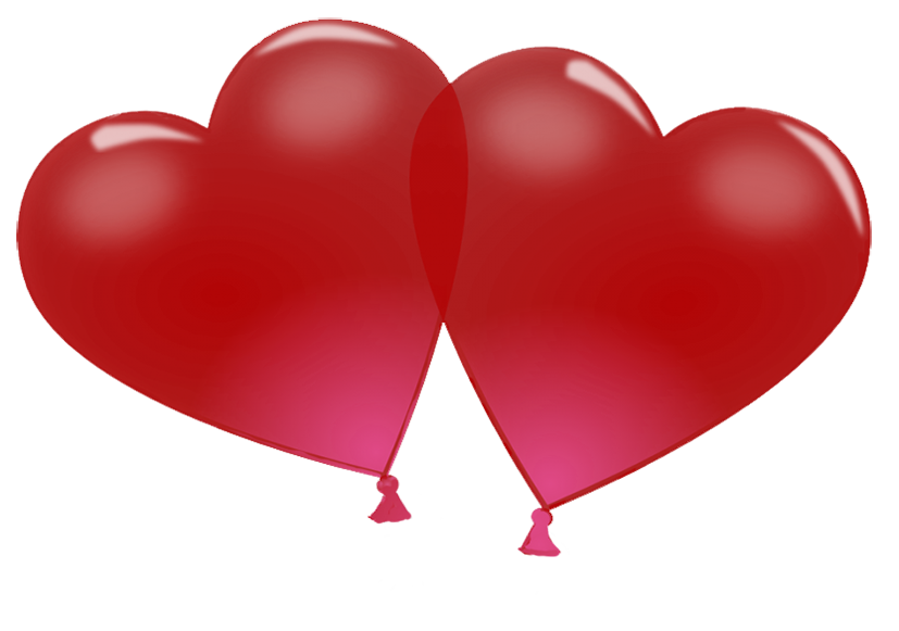 heart shaped Valentine balloons
