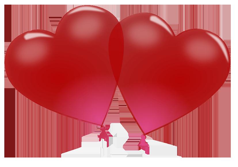 heart shaped Valentine balloons