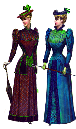 free Victorian graphics of ladies and clothing
