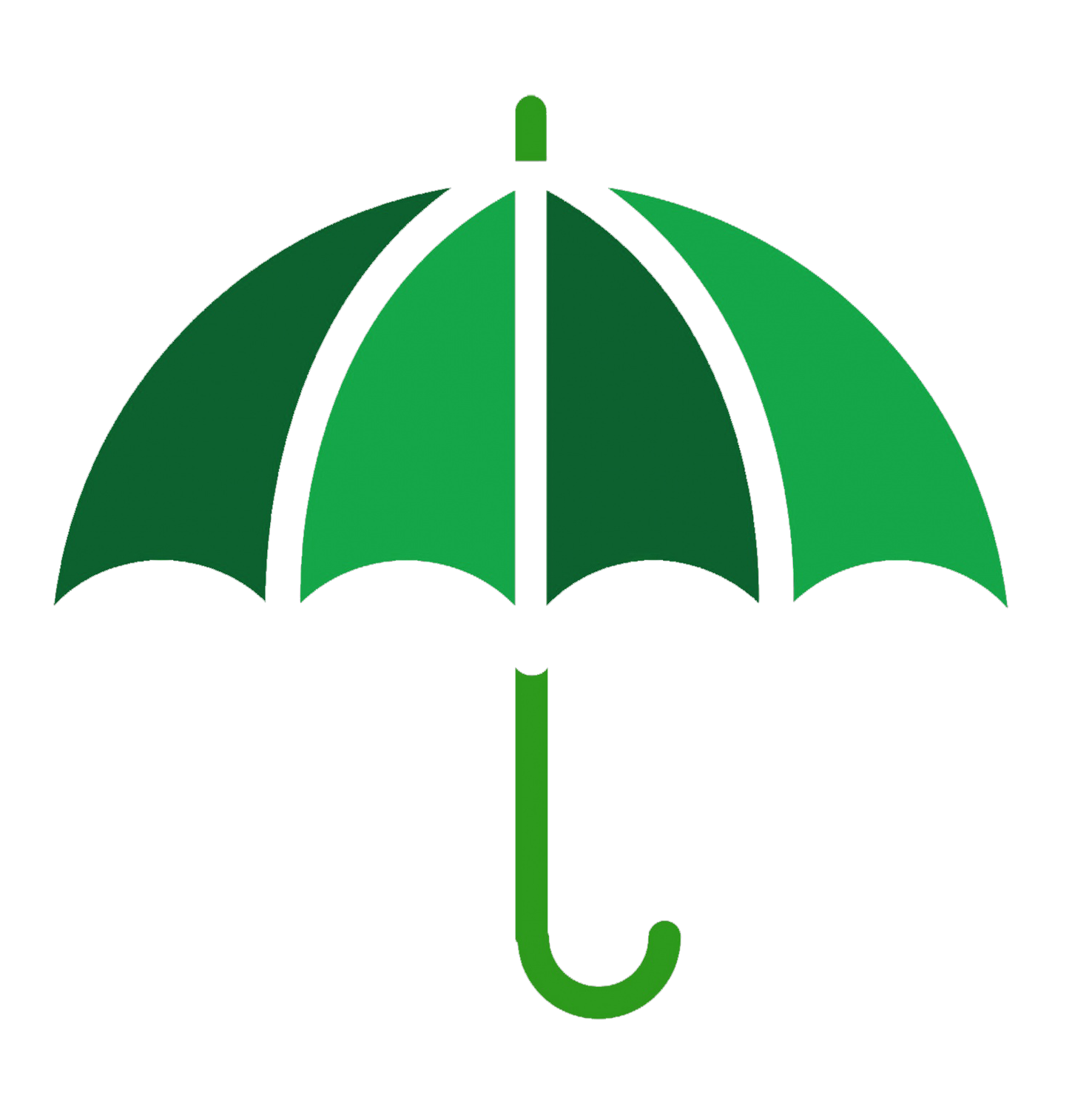 green umbrella symbol