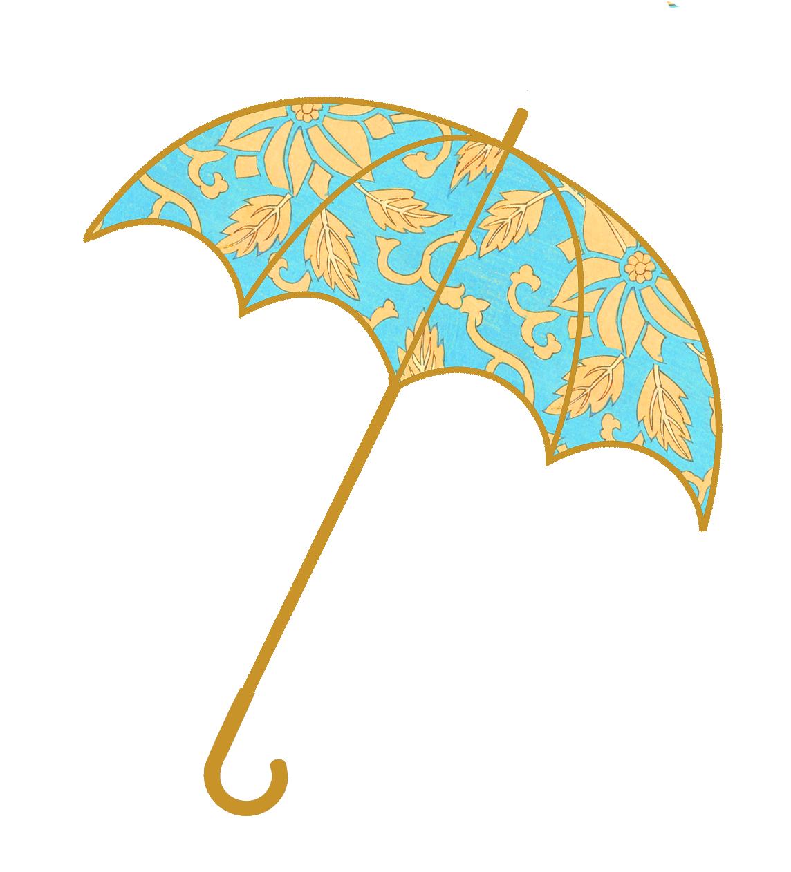 umbrella with blue pattern