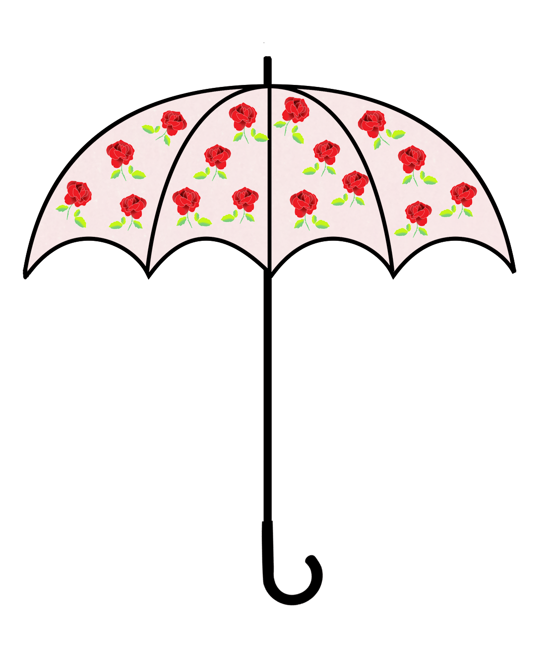 umbrella with roses