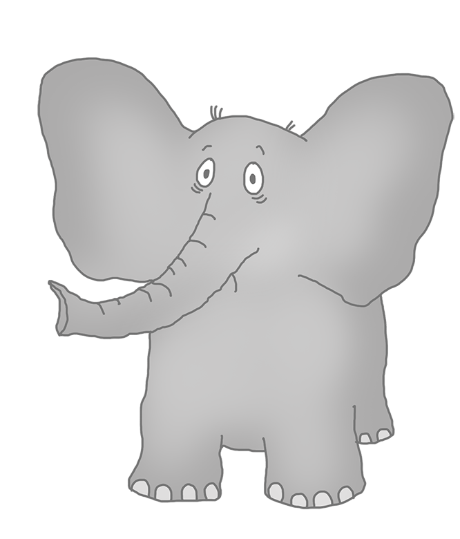 unhappy elephant clip art