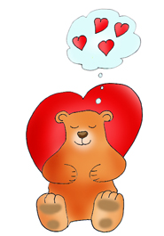 Valentine bear with valentine heart dream