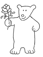 Valentine Day Graphics bear with rose
