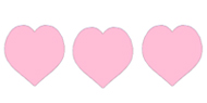 valentine clipart pink hearts band