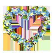 heart of blue flowers