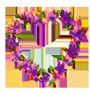 valentine heart of flowers purple