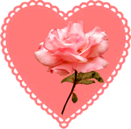 valentine heart with rose
