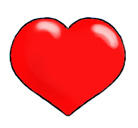 love heart drawings red valentine heart