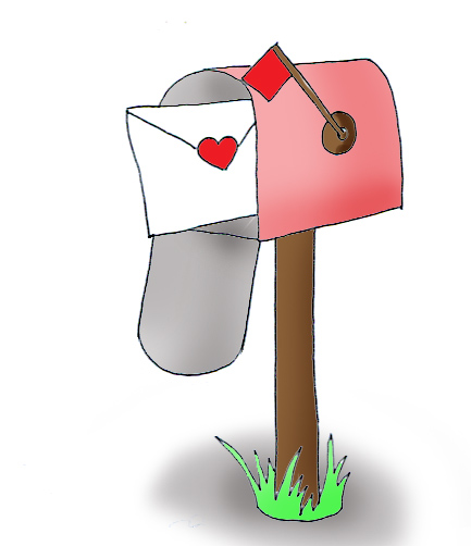 Valentine letter in mail box