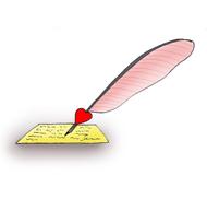 valentine clipart letter