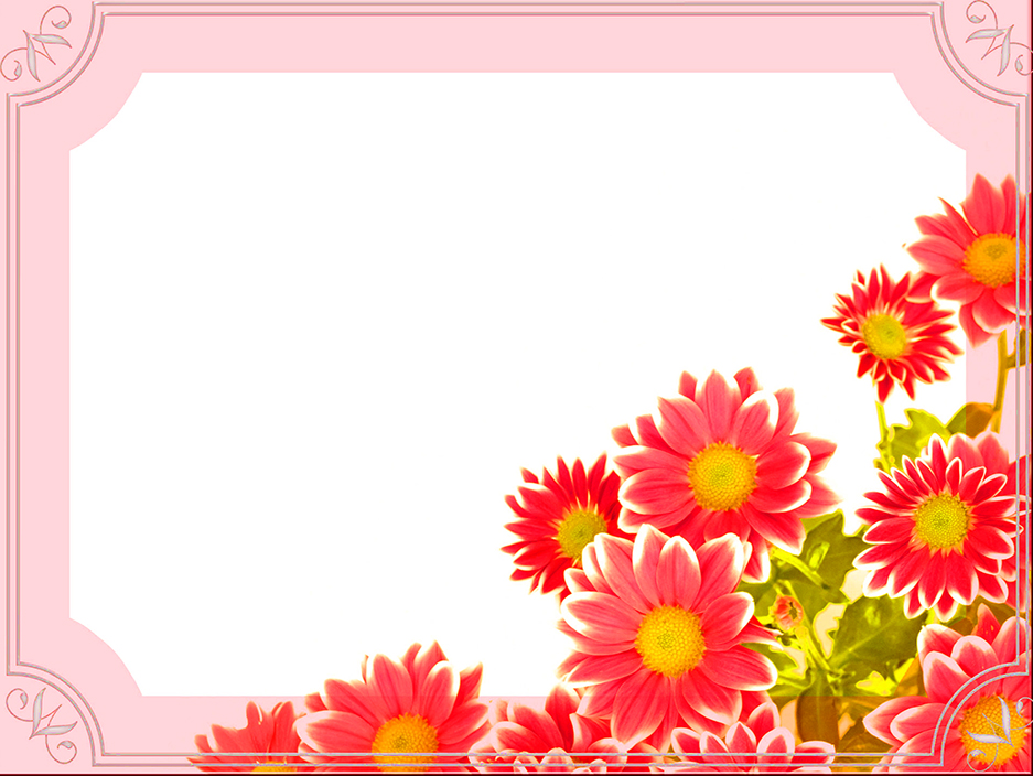 friend Valentine template flowers