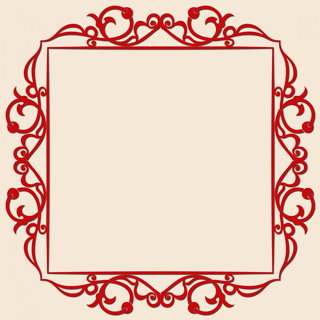 red Valentine frame