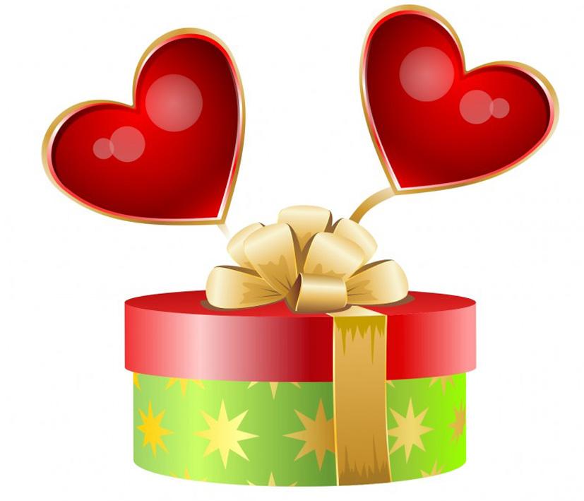 Valentine gift clipart