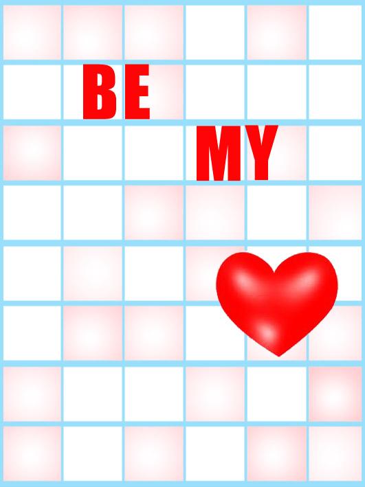 Valentine greeting cards be my valentine