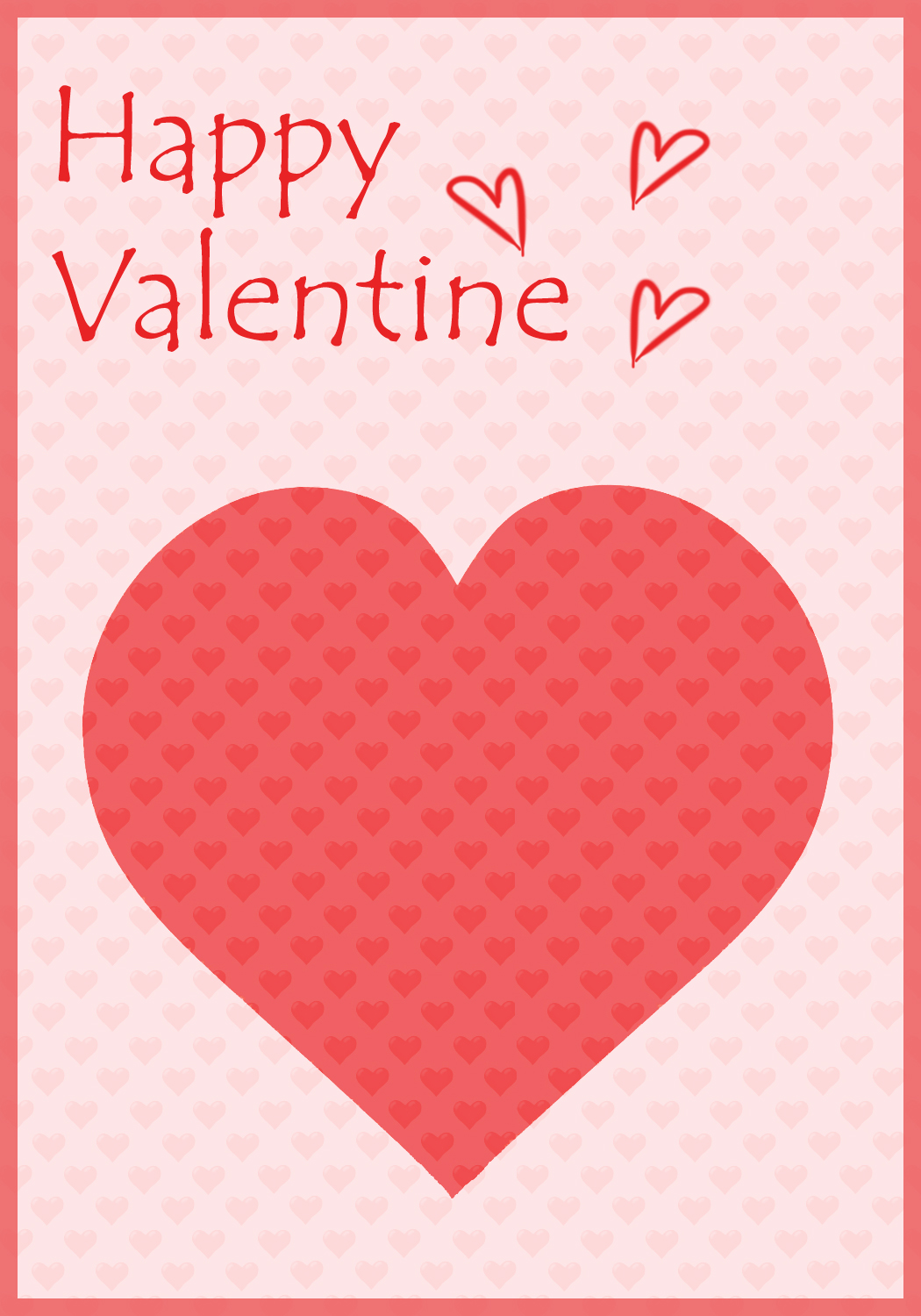 This is a graphic of Clean Printable Valentine Picture