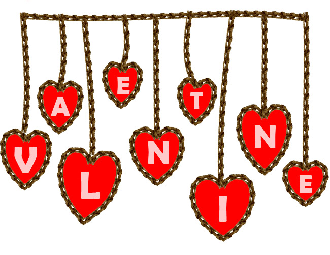 valentine heart on a string