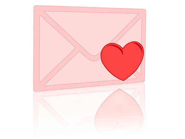valentine letter clipart