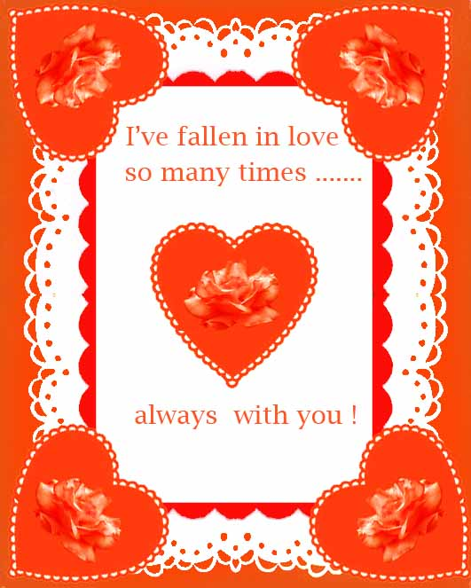 valentines day cards falling in love