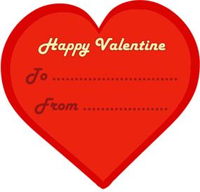 Happy Valentine red heart