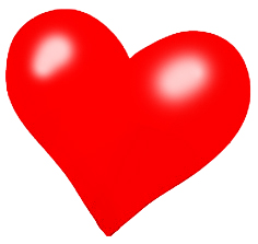 red Valentine heart clipart