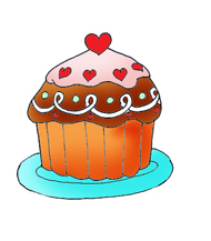 valentines day ideas cupcake clipart