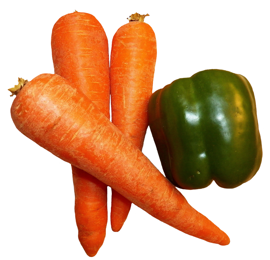 vegtables carrots green pepper