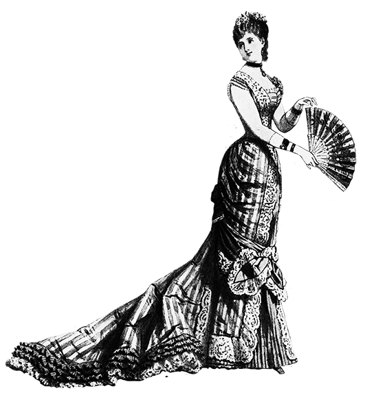Victorian ladie's evening dress 1873
