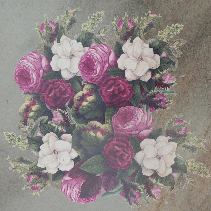 Victorian scrapbooing flower background