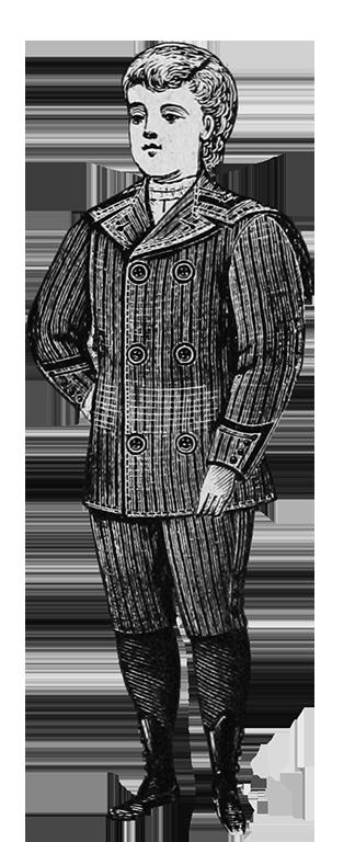 Victorian boys suit sailor collar button boots