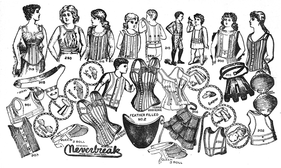 Victorian lingerie bustles and waists
