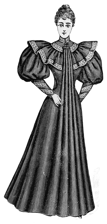 Clip Art of Victorian Clothing