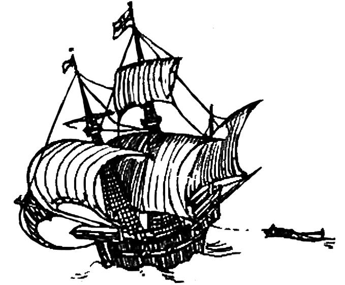 victorian clipart sail ship