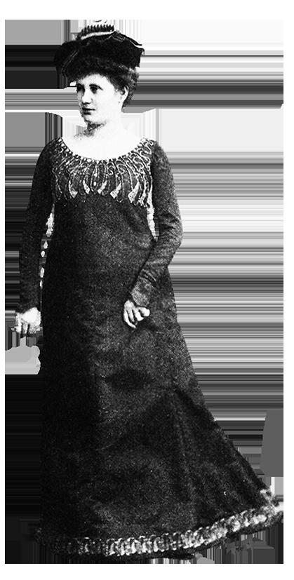 Evening dress Victorian dress reform 1901